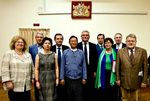 Members of the European Parliament together with the Minister of Railways, U Aung Min